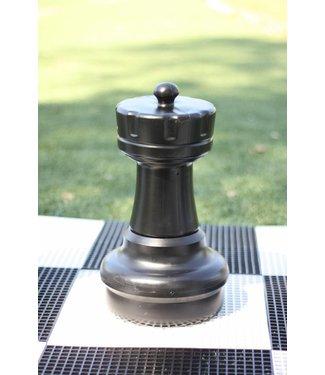 Ubergames XXL Schachfigur, Turm Weiss oder Schwarz, 45 cm. 2 teilig.