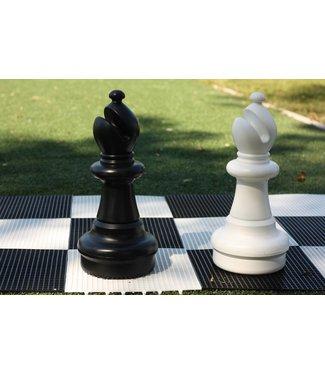 Ubergames XXL Schachfigur, Läufer 54 cm, Weiss oder Schwarz, 2 teilig