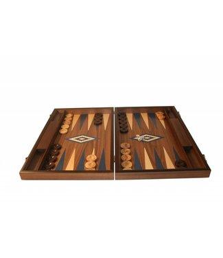 Ubergames Backgammon aus Walnussholz- blau
