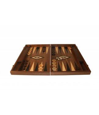 Ubergames Backgammon aus Walnussholz- schwarz