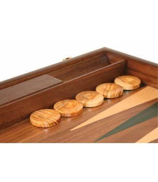 Ubergames Backgammon aus Walnussholz- grün