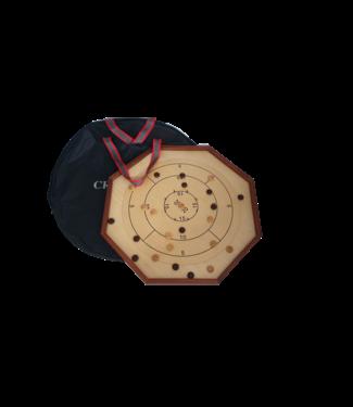 Ubergames Crokinole - mit TrageTasche -  Offiziellen 69x69 cm