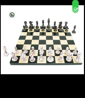 Meistersport Graffiti Schach - Ultra Deco Schachspiel- 48x48 cm Brett
