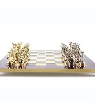 Ubergames Krieg der Giganten Schachspiel  - Gold - Silber - Bronze - 36x36 cm