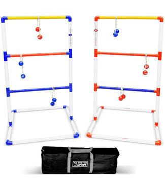 Doctor Sport Doppel Leitergolf Spiel Set Blau-Rot echte GolfBolas  in der Tasche