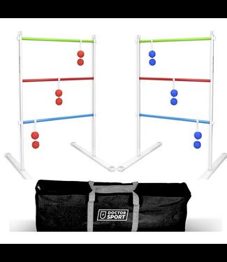 DrSport Doppelmetall-Leitergolfspiel - Weiche echte Bolas - Rot Blau im Trage Tasche