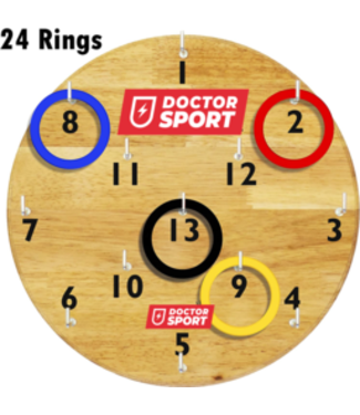 Doctor Sport Dart - Safe mit Haken und Ringen - Indoor- und Outdoor-Darts - 30x30 cm