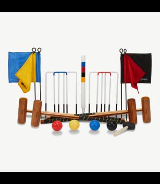 Ubergames 4p- Original Engländer Krocketset-Top Croquet Spiel