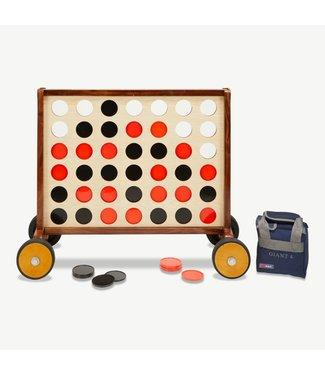 Ubergames Giga Vier-Gewinnt, ECO-hartholz, 83x61cm mit Tasche für die Steine