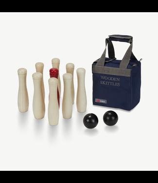 Ubergames Hölzernes Kegel Set/Bowling- ECO-holz, in stabiler Transporttasche