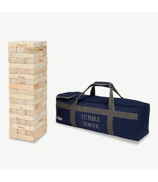 Ubergames XXXL Mega WackelTurmspiel, in stabiler Transporttasche, us ECO-pinienholz, bis zu 90cm hoch