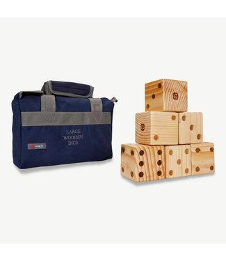 Ubergames Große hölzerne Würfel, 355g, 9x9cm jede Seite, ECO-holz in praktischer Transporttasche