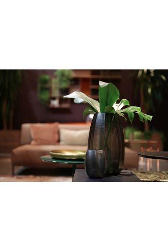 """Guaxs Vase """" Koonam XL '' Indigo / Smokegrey"""