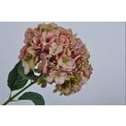 Silk-ka Hortensia tak roze / groen 86 cm