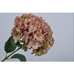 Silk-ka Branche d'hortensia rose / vert 86 cm