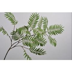 Silk-ka Branche feuille verte 154 cm