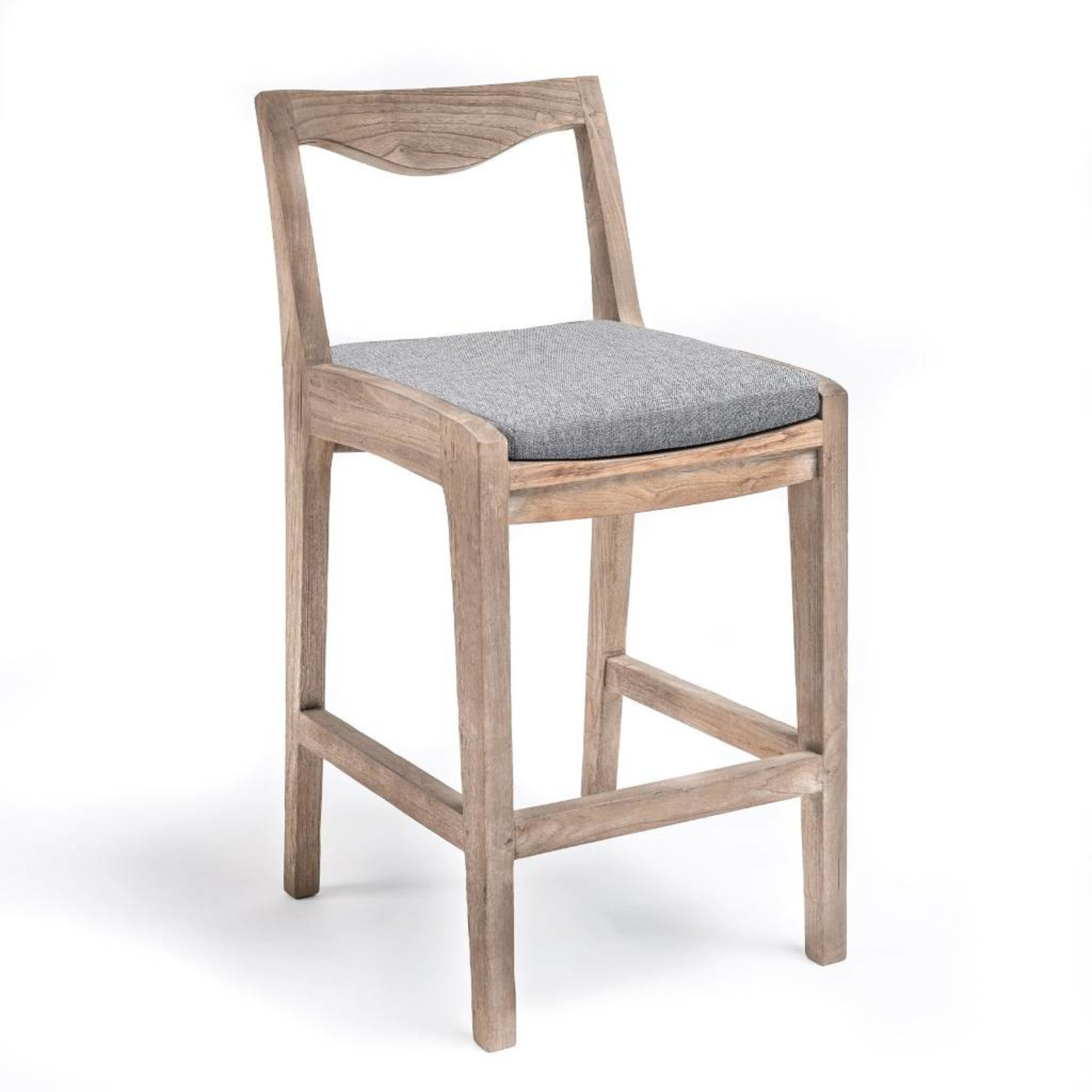 Gommaire Bar Chair Curve | Reclaimed Teak Natural Gray