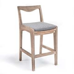 Gommaire Bar Chair Curve | Reclaimed Teak Natural Grey