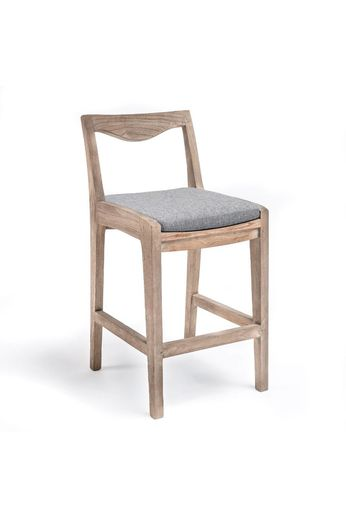 Gommaire Bar chair '' Curve '' Teak natural gray