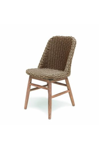 Gommaire Chair Sienna   Reclaimed Teak Natural Gray & PE Wicker Natural