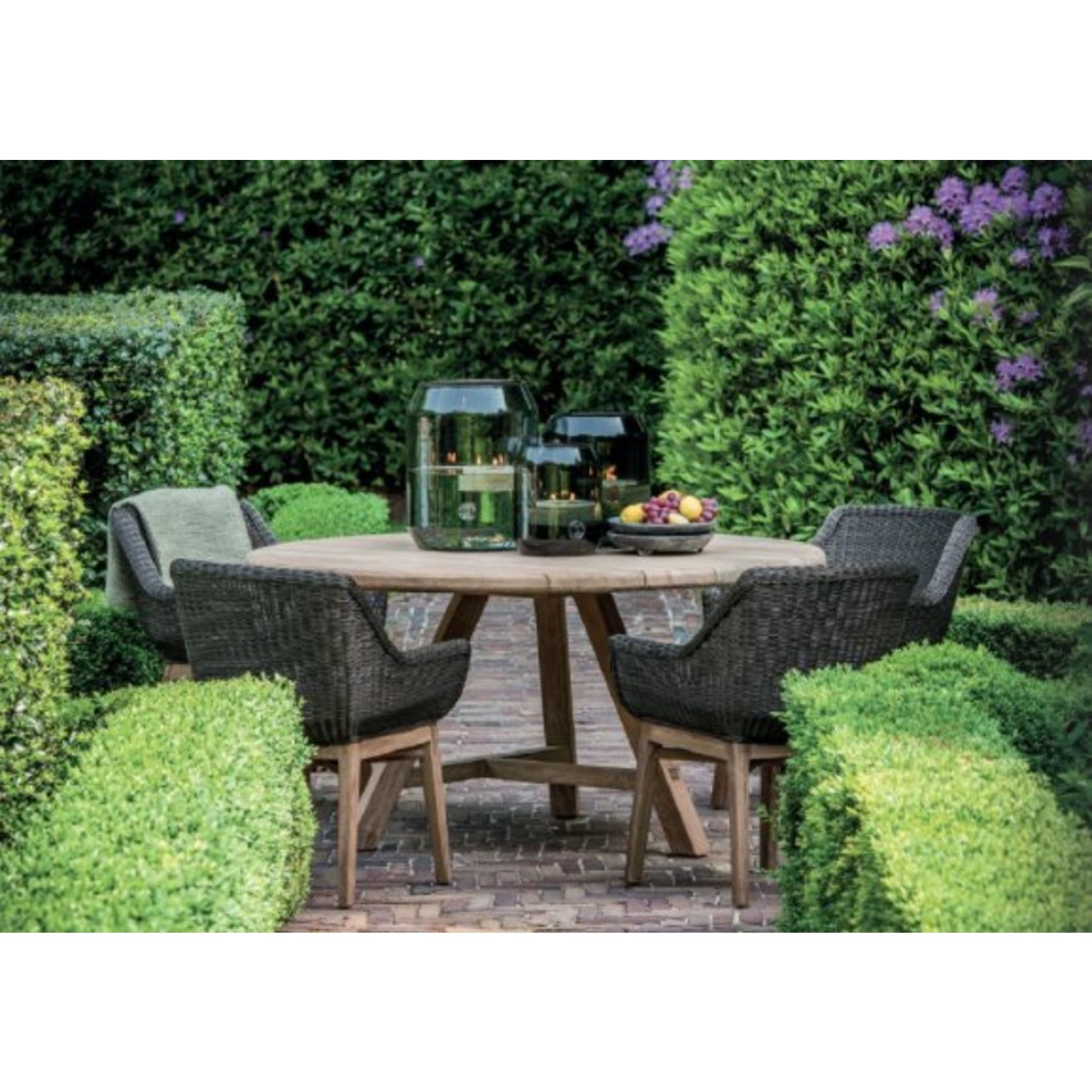 Gommaire Armchair Jacky   Teak Natural Gray / PE Wicker Charcoal