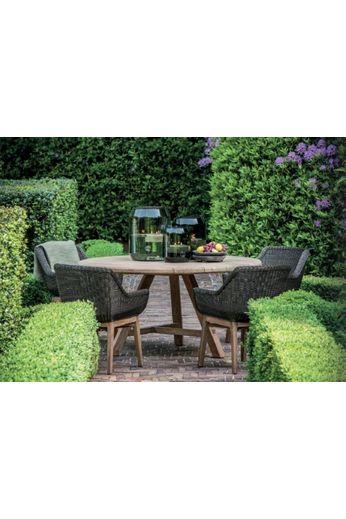 Gommaire Chair '' Jacky '' Teak natural gray & PE wicker bronze