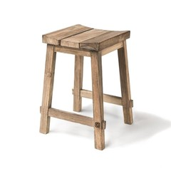 Gommaire Bar Stool Alexi | Reclaimed Teak Natural Grey