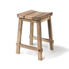 Gommaire Bar stool '' Alexi '' Teak natural gray