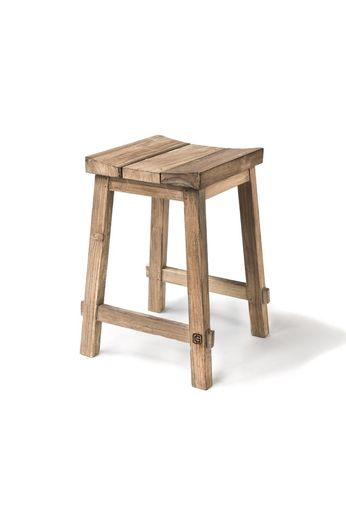 Gommaire Bar Stool Alexi | Reclaimed Teak Natural Gray