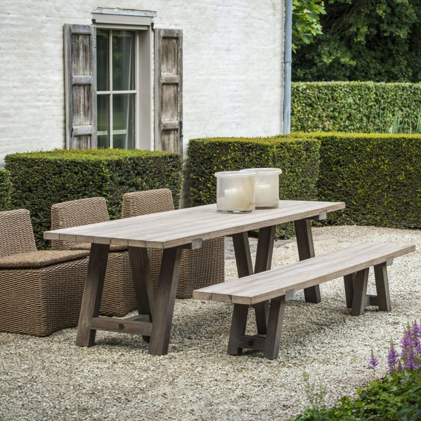 Gommaire Chair Claire | PE Wicker Natural 4 pieces incl. cushion