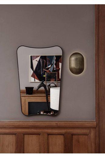Gubi Wall mirror FA 33 - 54x80 - Black Brass