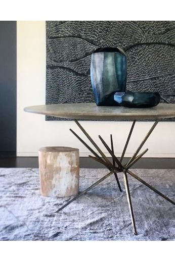 Guaxs Vase '' Cubistic Tall '' Ocean Blue / Indigo