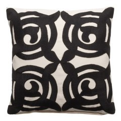 Pillow '' Artzy '' Black / Natural 50 x 50 cm
