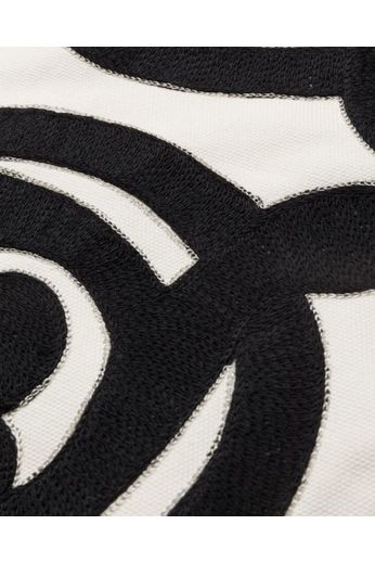 Kussen ''Artzy'' Black/Natural 50 x 50 cm