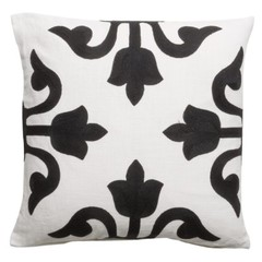 Pillow '' Medina '' White / Black 50 x 50 cm
