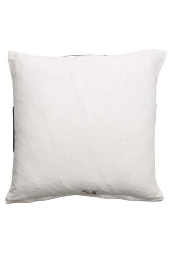 Oreiller '' Medina '' Blanc / Noir 50 x 50 cm
