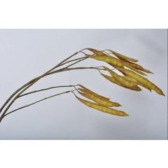 Silk-ka Wood branch beans ocher / green 125 cm