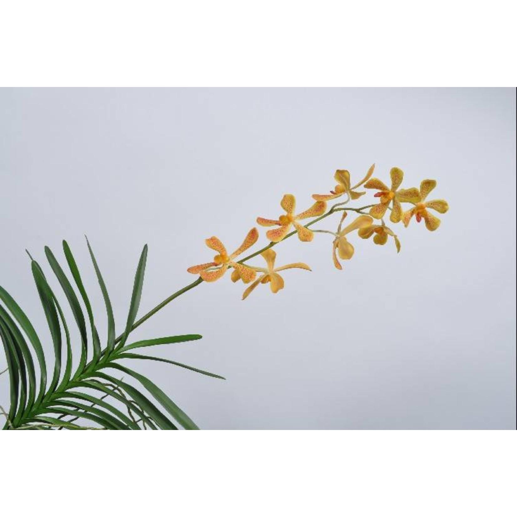 Silk-ka Vanda plant geel 90 cm