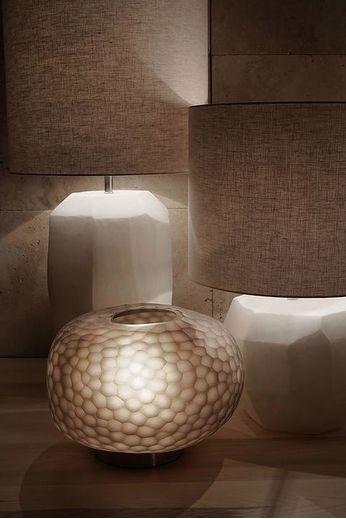 Guaxs Lampe de table cubiste ronde | Opale
