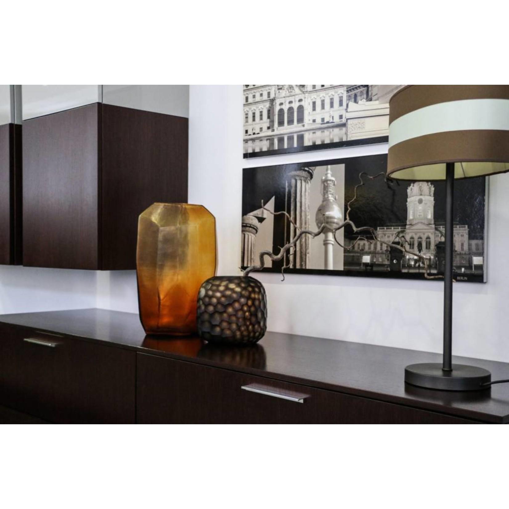 Guaxs Vase Cubiste Haut | Clair / Or