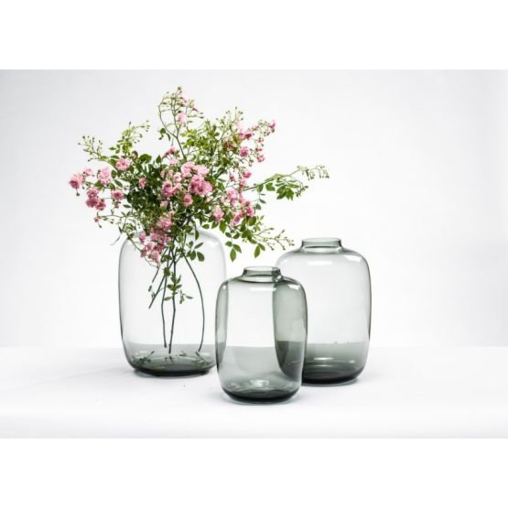 Ball vase Smokegrey L