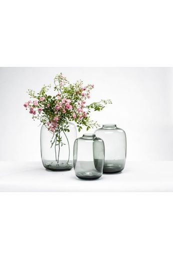 Ball vase Smokegrey L