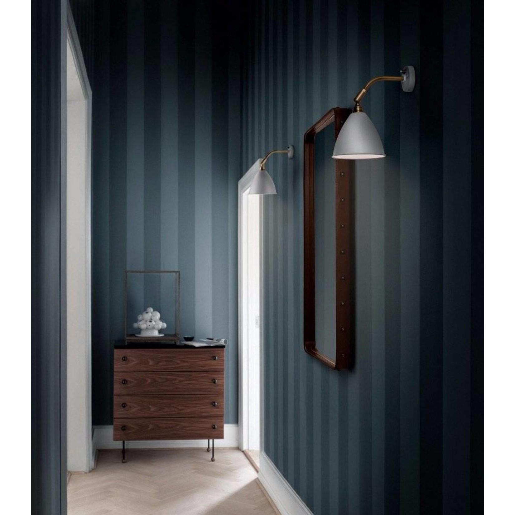 Gubi Wall mirror Adnet - Rectangular - 65x115 - Tan Leather