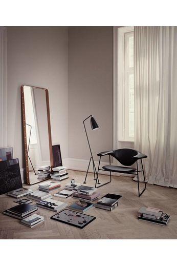 Gubi Wall mirror Adnet - Rectangular - 70x180 - Tan Leather