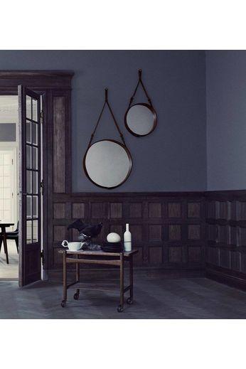 Gubi Wall mirror Adnet - Round - Ø45 - Tan Leather