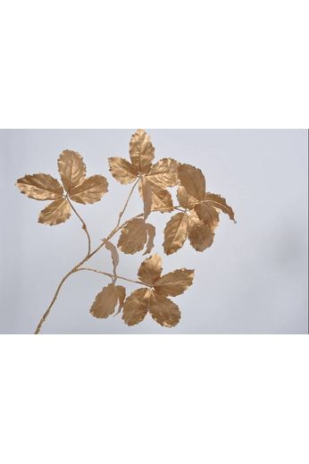 Silk-ka Leaf branch gold 103 cm