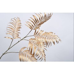 Silk-ka Branche de palme feuille d'or 145 cm