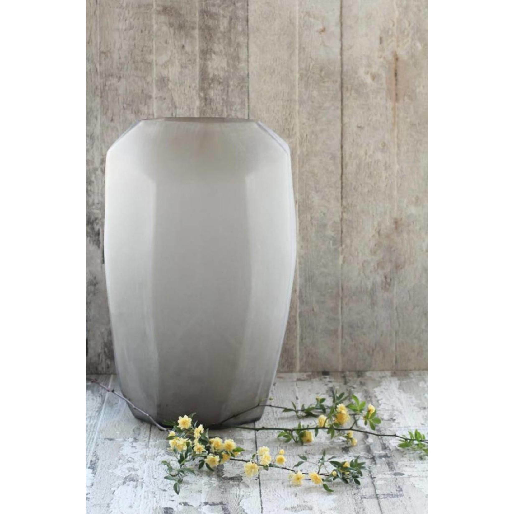 Guaxs Vase Cubiste Haut | gris fumée