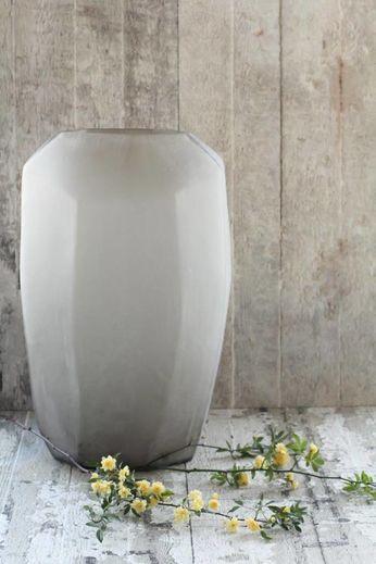 Guaxs Vase Cubistic Tall | Smokegrey