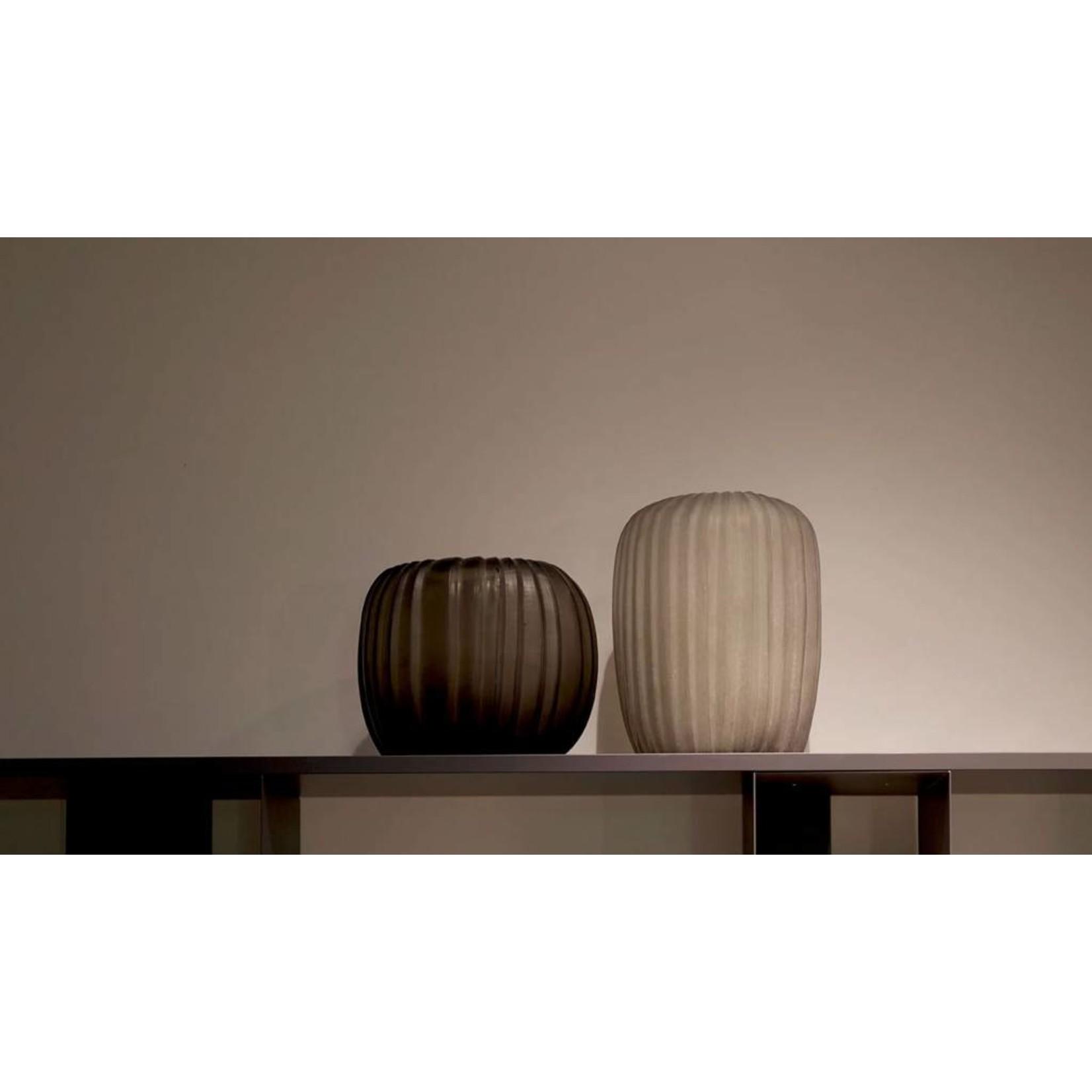 Guaxs Vase Manakara Round   Indigo / Smoke Gray